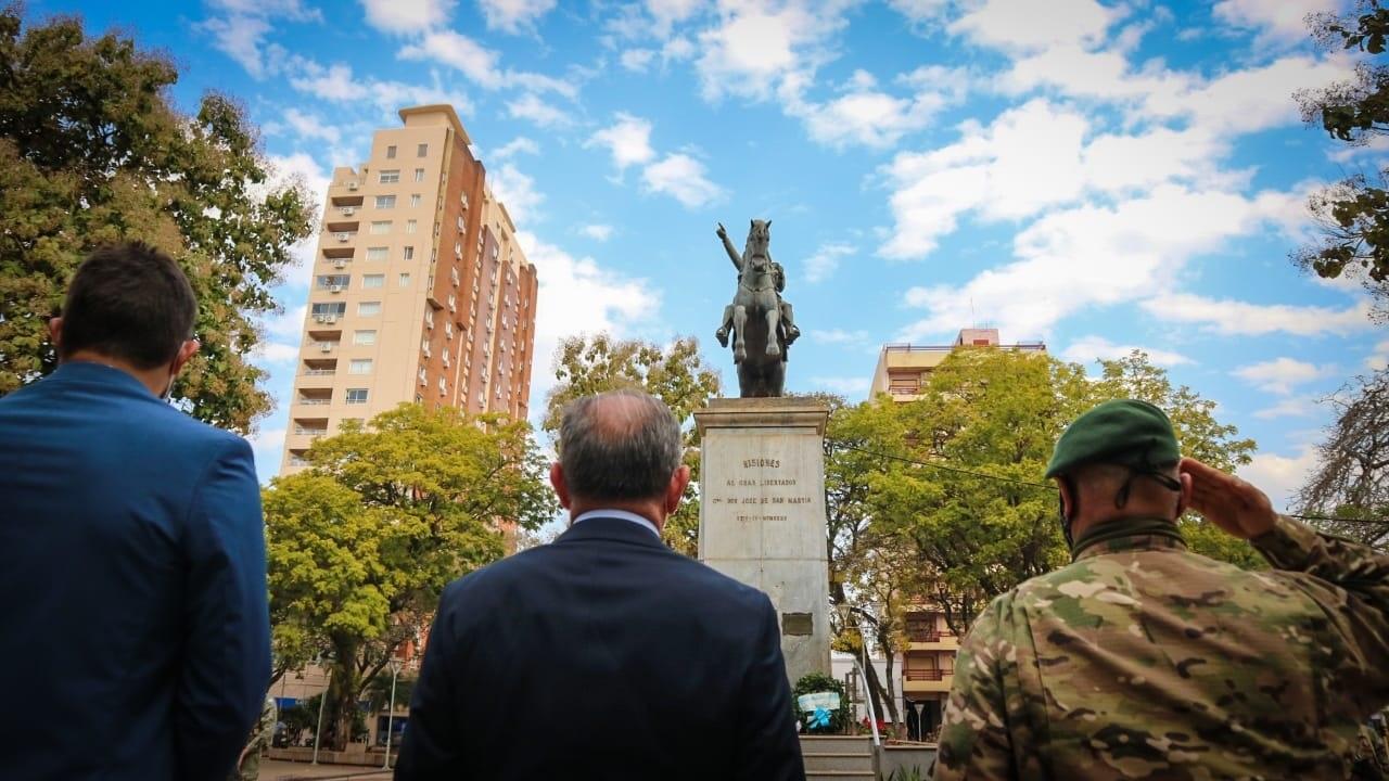 Posadas homenajeó a Don José de San Martín